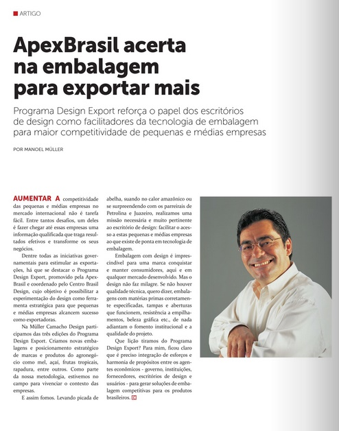 Programa Design Export é referenciado em revista de design