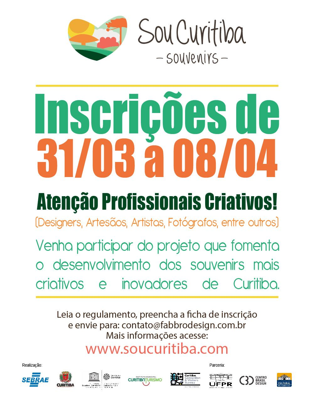 SouCuritiba Abre Inscrições Para Profissionais Criativos De 31/03 A 08/04