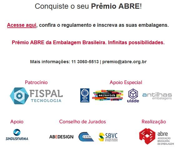 b56f6d591c990 Prêmio ABRE da Embalagem Brasileira  inscreva-se até 30 de maio ...