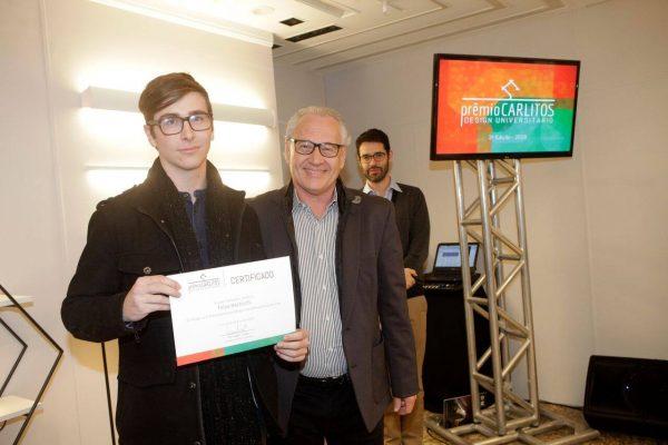 O vencedor do 1° lugar Felipe Mazzocchi e Antonio Carlos Mingrone