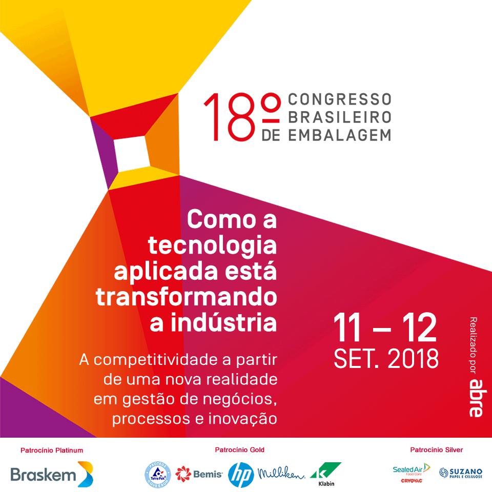 Resultado de imagem para 18° Congresso Brasileiro de Embalagem acontece em setembro