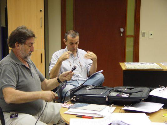 Ivens Fontoura e Geraldo Pougy no júri da mostra Novíssimos, 2010